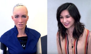 Channel 4's Humans cast facetimes Sophia the Robot