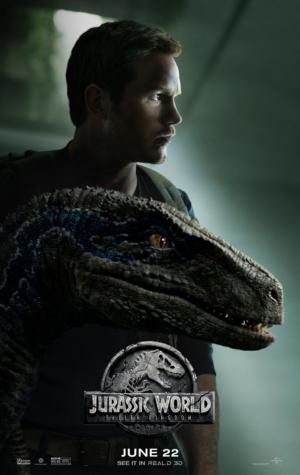 Jurassic World: Fallen Kingdom new posters goes for a Owen/Blue family portrait