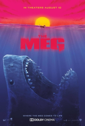 The Meg new art poster channels Jaws