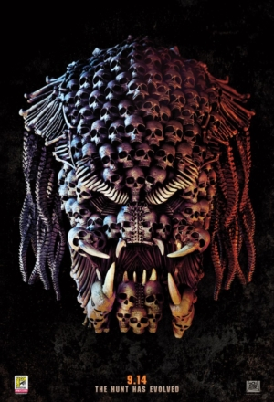 The Predator new poster is actually quite hard to look at
