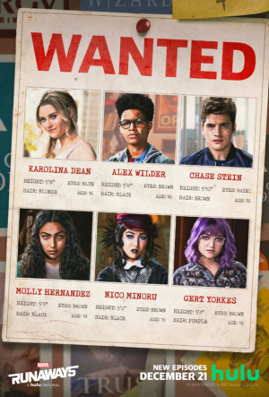 Marvel's Runaways new posters are on the lookout for the gang