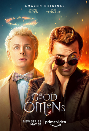 Good Omens new poster pits good against evil