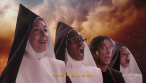 Good Omens new clip presents the Chattering Order of St Beryl
