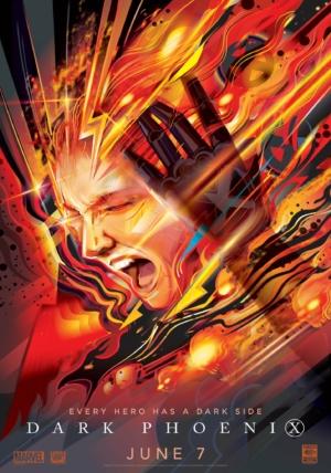 Dark Phoenix new art poster has a dark side