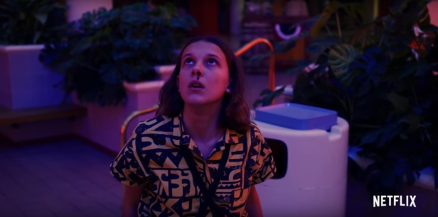 Millie Bobby Brown in the trailer for Stranger Things Season 3