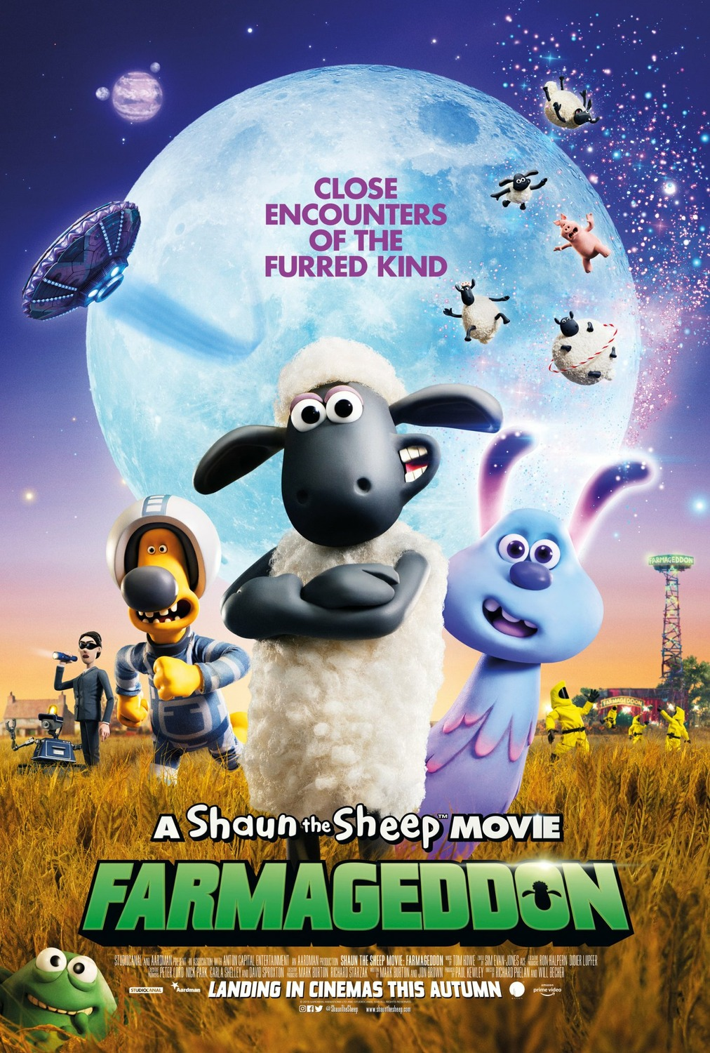 A Shaun The Sheep Movie: Farmageddon film review: wonderful SF fun from Aardman
