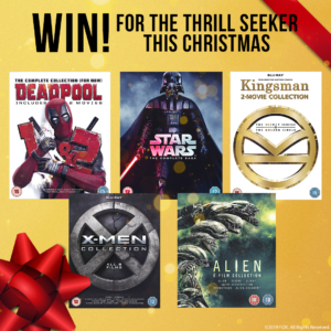Win a Fox thrill-seeker DVD bundle including Deadpool, Star Wars & more