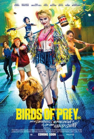 Birds Of Prey new posters take a hyena out for a walk