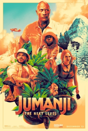 Jumanji: The Next Level new art poster gets arty