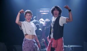 Bill & Ted Face The Music new photo meets the kids