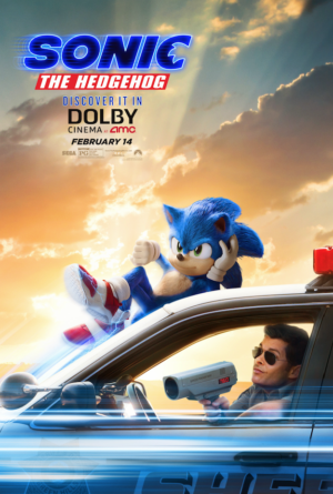 Sonic The Hedgehog new poster is caught speeding