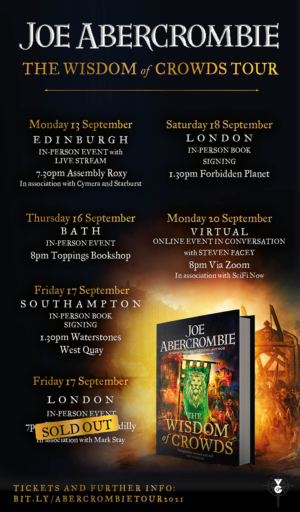 The Wisdom Of Crowds: Virtual event with Joe Abercrombie and narrator Steven Pacey